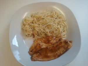Tilapia and Angel Hair Pasta